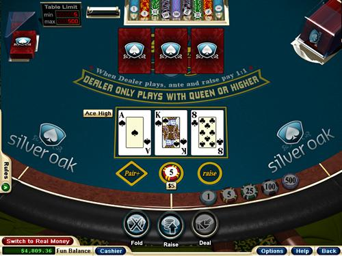 Three Card Poker Deal