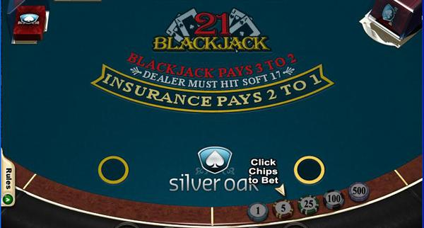 Silveroak Casino Blackjack